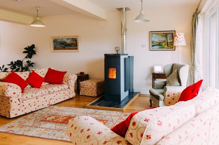 calefaccion de pellets en el hogar