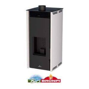 BRONPI Estufa DE Pellet SIN Electricidad Modelo Free (6 KW)